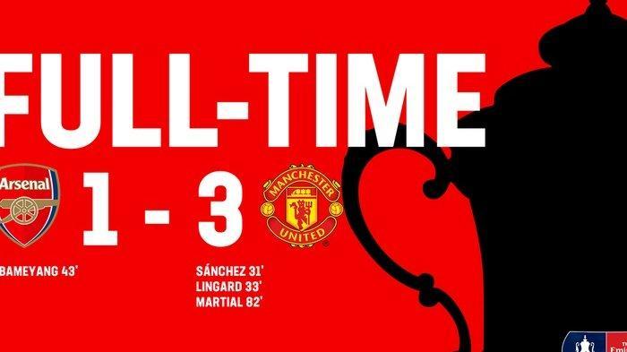 Di Babak ke-32 Besar Piala FA, Manchester United Tekuk Tuan Rumah Arsenal 3-1