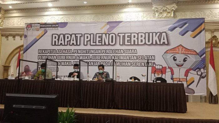 Hasil Rekapitulasi Suara Pilgub Kalsel di Kabupaten Banjar, Sahbirin Unggul Lebih dari 69 Ribu Suara