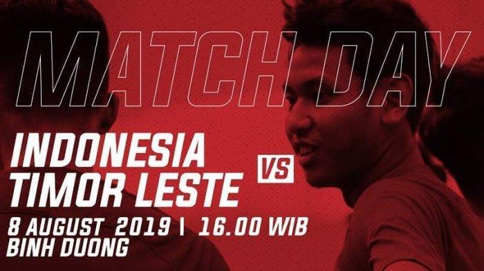 Hasil Timnas Indonesia U 18 Vs Timor Leste di AFF U18 Championship 2019, Skor 3-0 Turun Minum