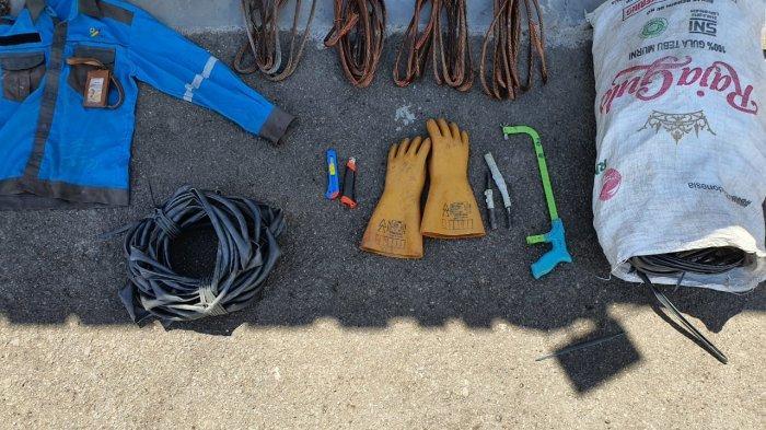 Pencurian di Sampit, Mantan Pegawai PLN Ditangkap Polisi karena Sering Mencuri Kabel Listrik
