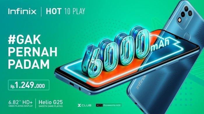 Harga Infinix Hot 10 Play, Ponsel Cerdas dan Daya Tahan Baterai Kuat