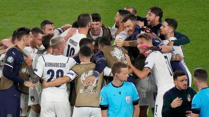Italia vs Spanyol di Semifinal, Hasil EURO 2020 Gli Azzurri Kalahkan Belgia 2-1