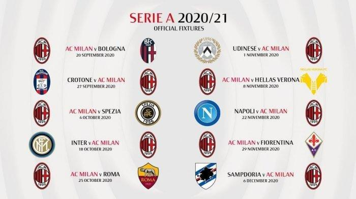 BIG Match AC Milan di Liga Italia 2020/2021: Bakal Lawan Inter Milan, Lazio, hingga Juventus