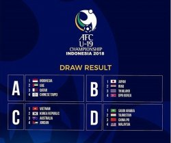 Jadwal Lengkap Piala AFC U-19 (Piala Asia U-19) :  Timnas U-19 Indonesia vs Taiwan
