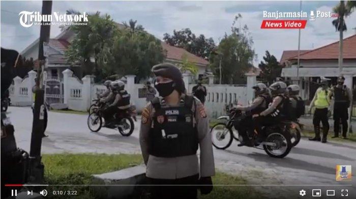 VIDEO Kantor BNNP Dijaga Polisi Saat Pemeriksaan Narkoba Bacalon Gubernur Kalteng