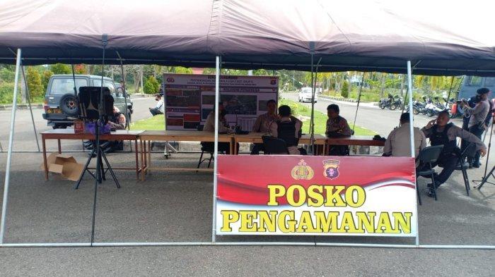 220 Personel Gabungan TNI, Polri dan Satpol PP Amankan Laga Liga 2 di Stadion Tuah Pahoe