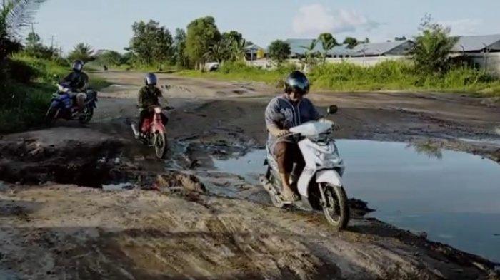 VIDEO Kerusakan Jalan Lingkar Selatan Sampit Jadi Perhatian Lembaga Amali Jurdil Kotim