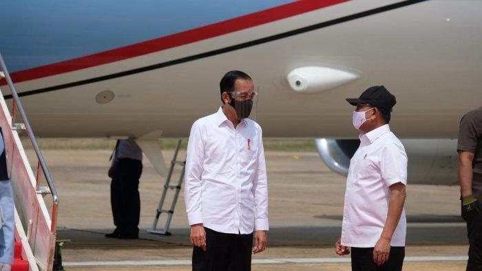 Jokowi Datang Ke Lokasi Food Estate Kalteng Didamping Jenderal TNI Moeldoko