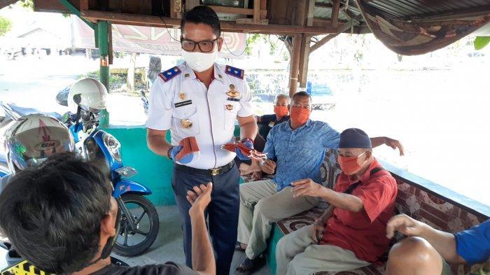 Dishub Palangkaraya Bagikan Masker ke Warga, Ojek Hingga Sopir Angkutan