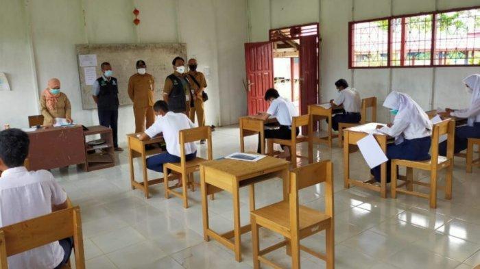 Ujian Sekolah Tingkat SMP di Kapuas Kalteng Digelar Secara Tatap Muka dan Daring