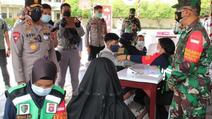 Pelajar SMP dan SMA di Kota Palangkaraya Kalteng Diberikan Vaksinasi Covid-19