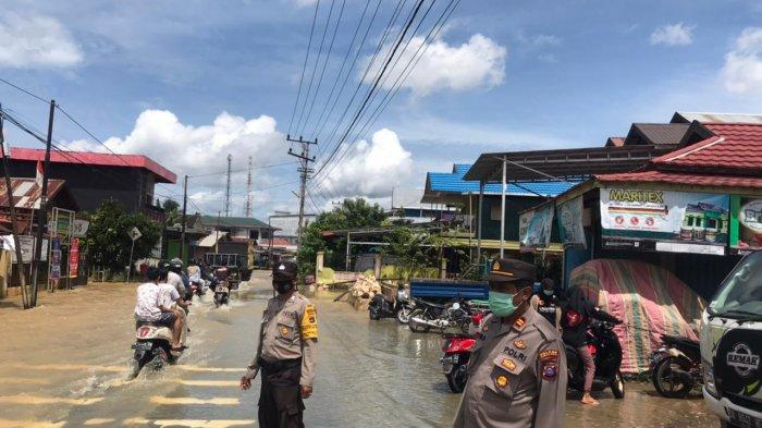 Luapan Sungai Turun ke Wilayah Selatan Tabalong, Jalan Pengubung ke HSU Mulai Terendam