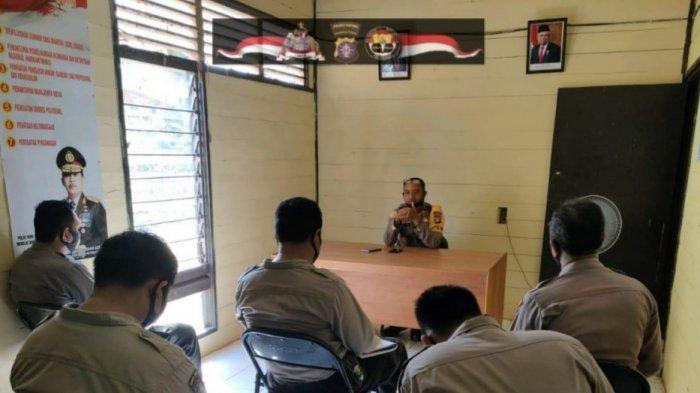 Evaluasi Kinerja Personel, Polsek Mantangai Kapuas Kalteng Lakukan Anev