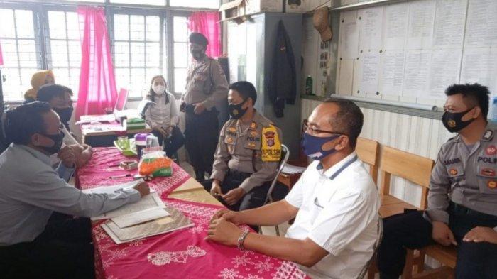 Sambangi Ketua Panwascam, Polsek Kapuas Tengah Ajak Sukseskan Pilkada