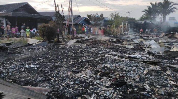 Delapan Rumah dan Satu Bangunan Walet Hangus Pada Kebakaran di Dadahup Kapuas