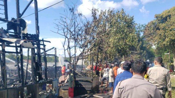 Suara Ledakan Terdengar Sebelum Kobaran Api Melalap Empat Rumah di Bereng Bengkel Palangkaraya