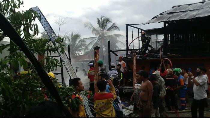 Api Amuk Empat Rumah di Pematang Panjang Banjar Kalsel