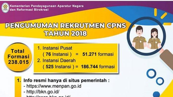 21 Persen Pelamar Seleksi CPNS 2018 Gagal, 1,7 Juta Lolos Seleksi Administrasi via sscn. bkn.go.id