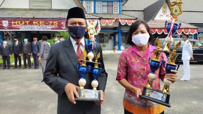Lomba Vocal Group antar SOPD di Kapuas Kalteng, Dinas Pendidikan Raih Dua Juara