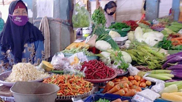 Ketersediaan Bahan Pokok di Pasar Tradisional Palangkaraya Terpantau Aman, Harga Relatif Stabil