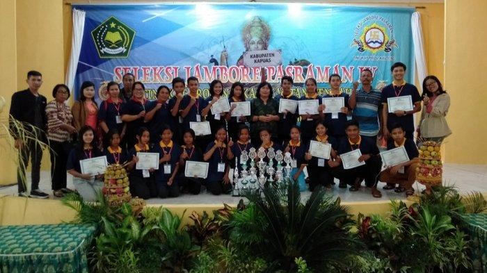 Kontingen Kapuas Raih 8 Gelar Juara Seleksi Jambore Pasraman IV Tingkat Provinsi Kalteng