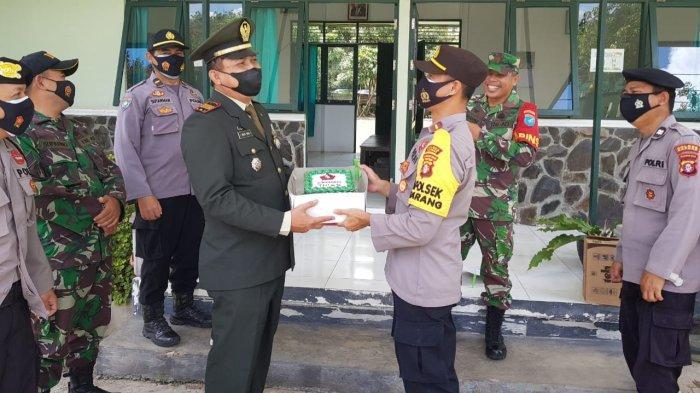 Sambangi Koramil dan Beri Kejutan, Ini Harapan Kapolsek Basarang Kapuas pada HUT ke-76 TNI