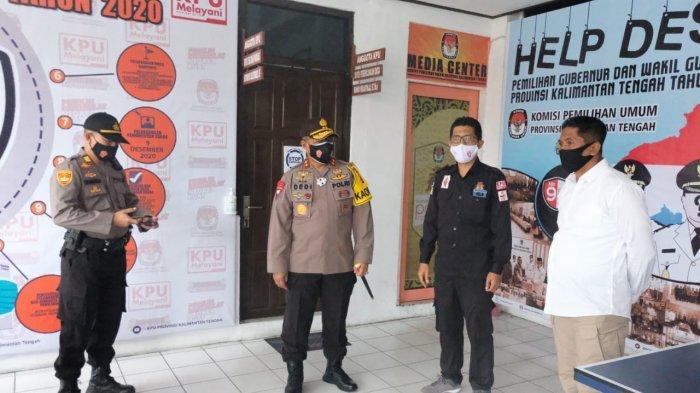 Kantor KPU Kalteng Dijaga Polisi dan Dipasang CCTV Jelang Pendaftaran Paslon Gubernur, Ini Tujuannya