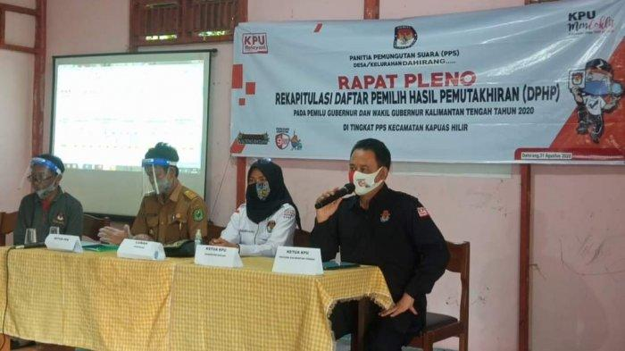 Ketua KPU Kalteng Monitoring Rapat Pleno Rekapitulasi DPHP,  Ini Pesan yang Disampaikan