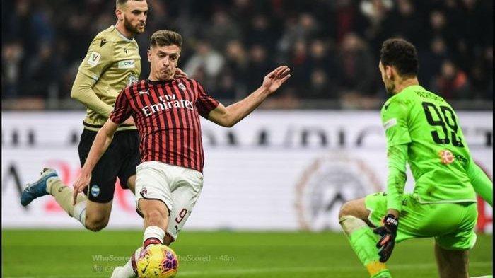 Hasil Coppa Italia, AC Milan Lolos ke Perempat Final Setelah Assist Perdana dan Gol Piatek