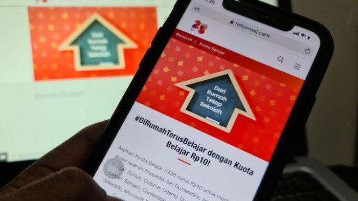 CARA Aktivasi Paket Kuota Belajar Telkomsel 10 GB Rp 10, Batas Waktu hingga Desember