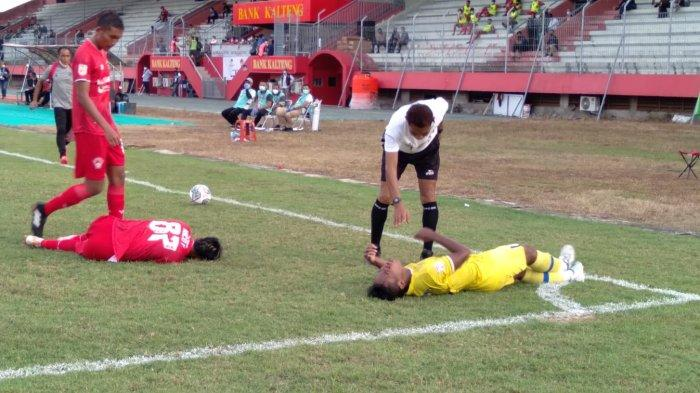 Gol Tendangan Kaki Kiri Giofani Bawa Kalteng Putra Kalahkan Persiba Balikpapan di Stadion Tuah Pahoe