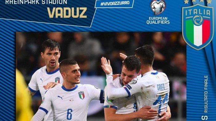 Andrea Belotti Sumbang 2 Gol, Italia Makin Kokoh di Puncak Klasemen Grup J di Kualifikasi Euro 2020