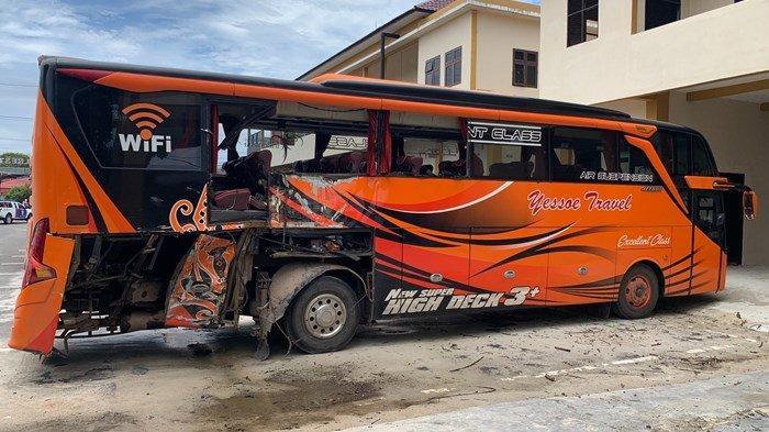 Polresta Palangkaraya Belum Tetapkan Tersangka Laka Lantas Truk vs Bus Yessoe, 2 Tewas