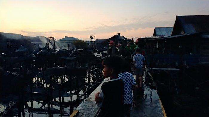 Kebakaran di Palangkaraya, Isna Bersyukur Rumah Selamat Padahal Bangunan Sekitar Sudah Dilalap Api