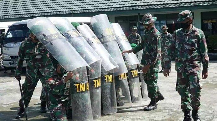 Anggota Kodim 1011/Kualakapuas Latihan Pengendalian Huru-hara