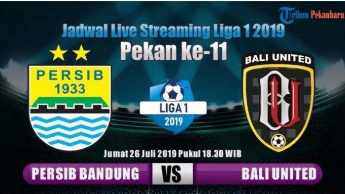 Persib Hari Ini, Live Streaming Vidio.com Persib Bandung vs Bali United Liga 1 2019, Live Indosiar