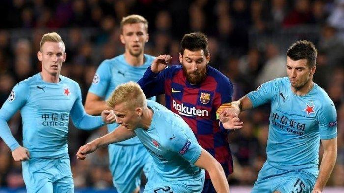 Liga Champions - Tuan Rumah Barcelona Gagal Menang Kontra Slavia Praha, Lionel Messi Gagal Cetak Gol