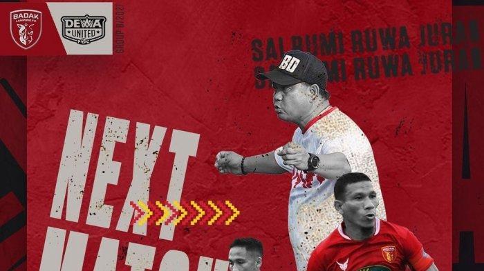 Preview & Link Nonton Badak Lampung vs Dewa United Streaming TV Online Vidio Liga 2 Tayang Senin
