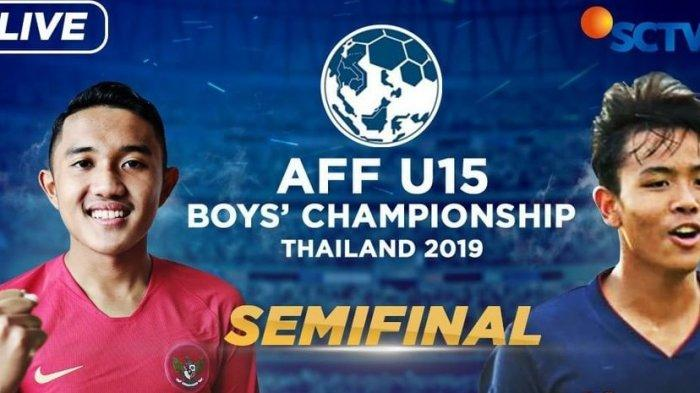 Live Streaming Timnas U 15 Indonesia vs Thailand Semifinal AFF U15 Championship 2019, Live SCTV