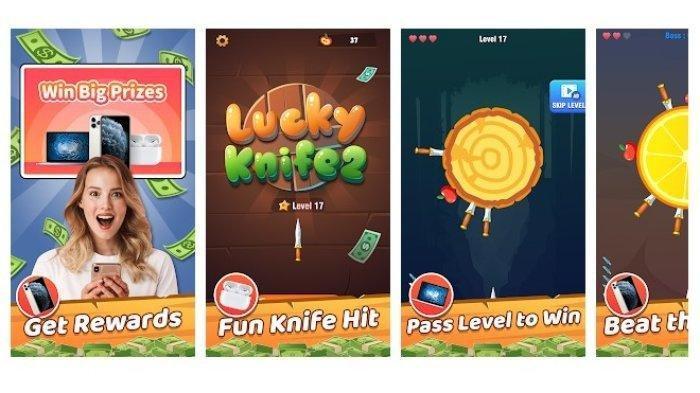 Aplikasi Penghasil Uang Lucky Knife, Main Game Lempar Pisau Bisa Dapat Cuan