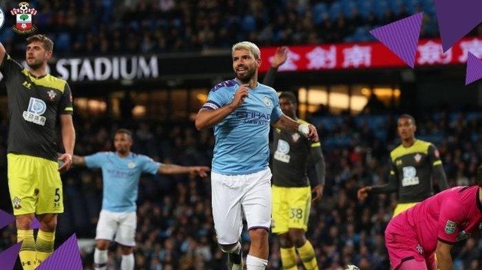 Sergio Aguero Cetak 2 Gol untuk Kemenangan Manchester City Kontra Southampton di Piala Liga Inggris