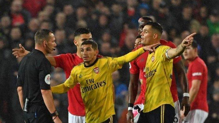 Gol Aubameyang Pudarkan Kemenangan The Red Devils di Liga Inggris Laga Manchester United Vs Arsenal
