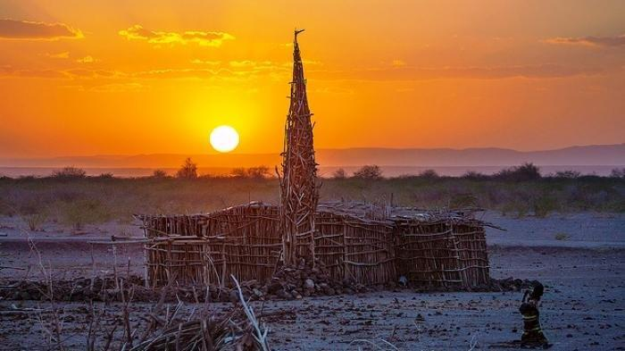 Pesona Khas Masjid Ranting Pohon Di Tengah Gurun Ethiopia, Ini Fakta Uniknya