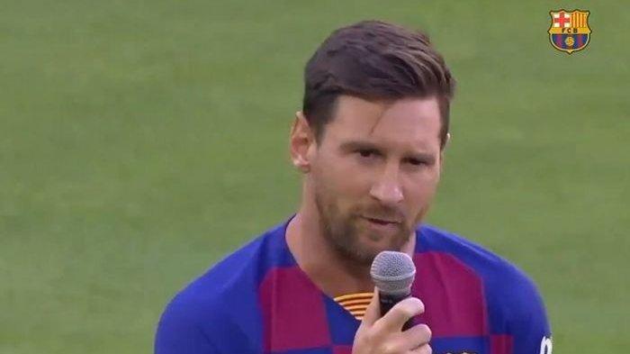 Laga Pramusim Bertajuk Joan Gamper Trophy, Barcelona Vs Arsenal, Lionel Messi Pun Berpidato