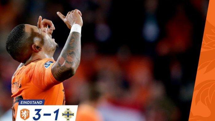 Tuan Rumah Belanda ke Puncak Klasemen Kualifikasi Euro 2020 Usai Tekuk Tamunya Irlandia Utara 3-1