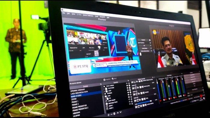 Launching tribunkalteng.com yang berlangsung secara daring Senin (27/9/2021). Tampak dalam gambar Menteri Pertanian, Syahrul Yasin Limpo yang menjadi salah satu narasumber dalam webinar yang digelar sebagai bagian launching dari tribunkalteng.com