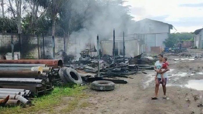 Mes Karyawan PT Palmas Project Engineering Sampit Terbakar, Sempat Terdengar Bunyi Ledakan Kecil
