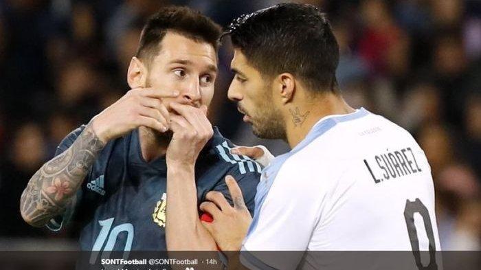 Skor 0-0! Link Streaming Argentina vs Uruguay Live Kualifikasi Piala Dunia 2022 Hari Ini