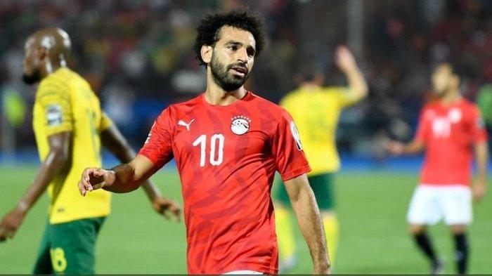 Di Babak 16 Besar Piala Afrika 2019, Mohamed Salah di Timnas Mesir Keok oleh Afrika Selatan