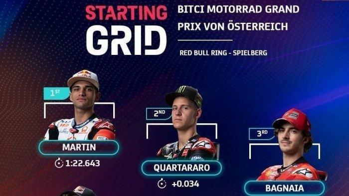 Jadwal dan Starting Grid Pembalap MotoGP Austria 2021 Malam Ini, Live Streaming Trans 7